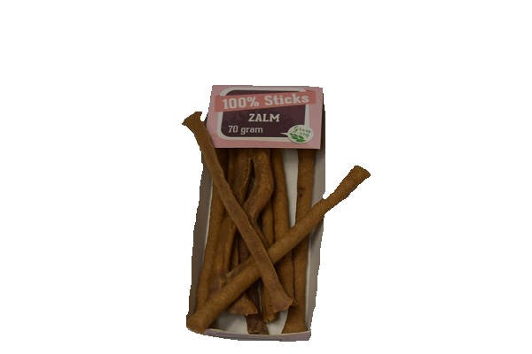 100% zalm sticks